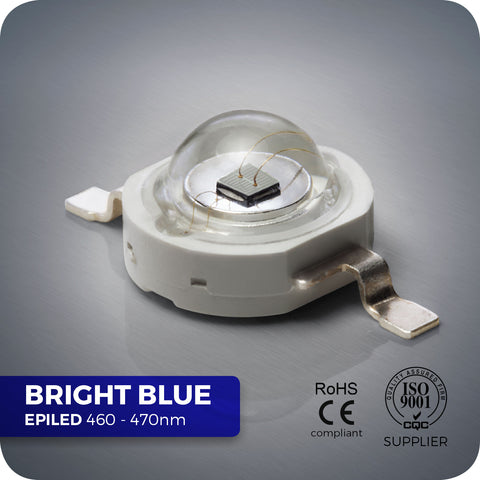 3W Blue High Power LED Components 460nm-470nm for PCBs