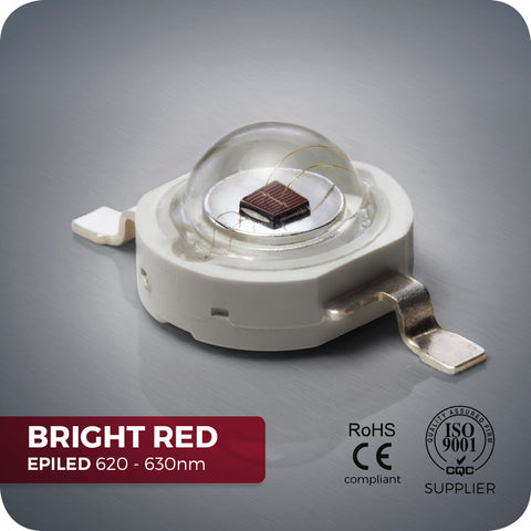 Bright Red LED (EPILED 620-630nm) - 800mA