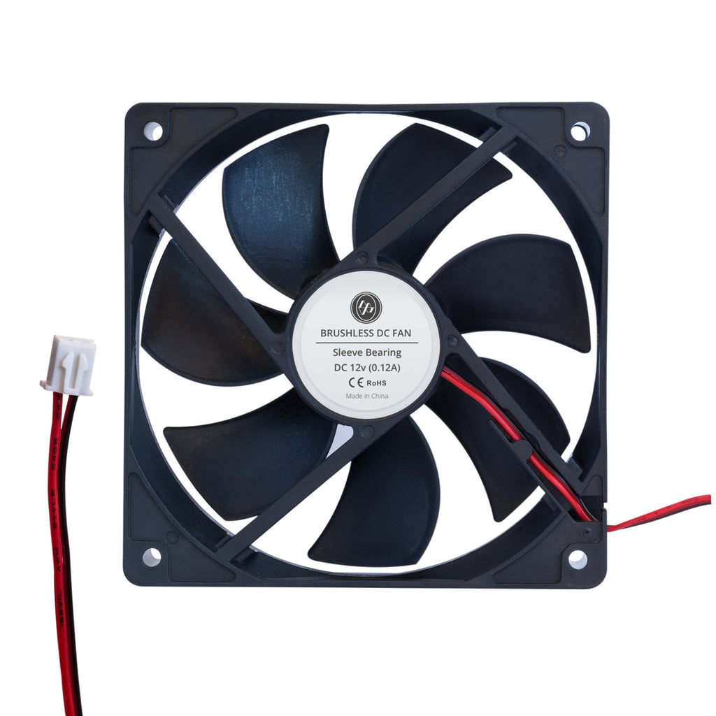 12v 120mm Brushless Quiet (23db) Cooling Fan