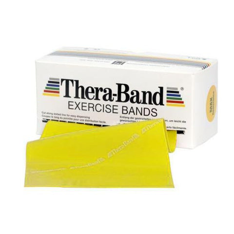 Theraband 5.5m Dispenser Pack - Yellow (light resistance)