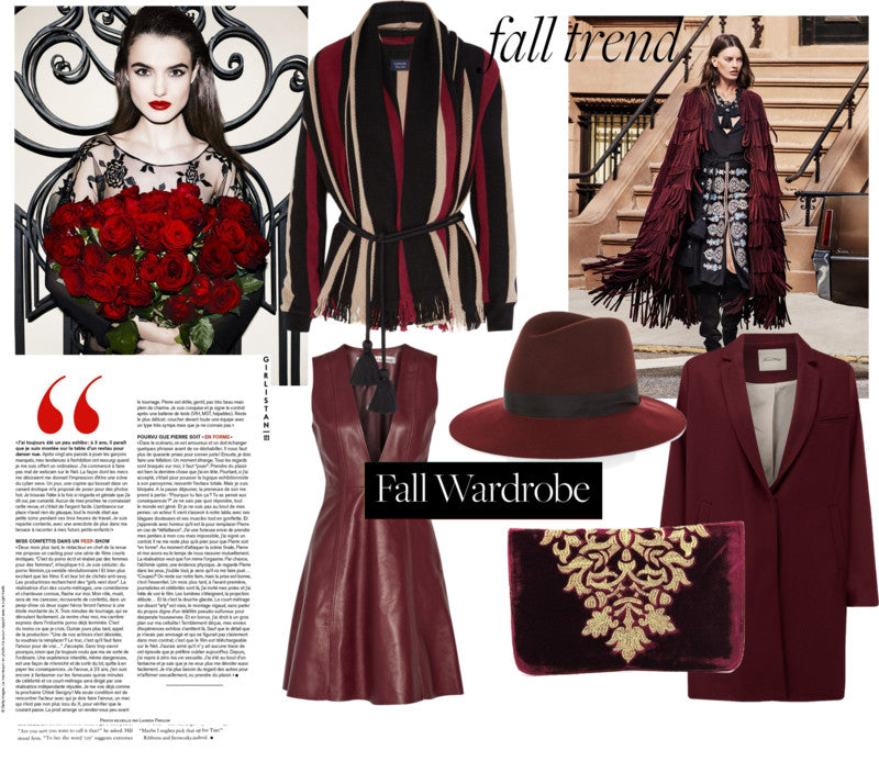 Fall fashion colors 2015: burgundy. Everything you need to know about burgundy in fashion. Fall fashion colors 2015 we love this fab wine red tone.