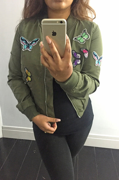 Bomber Butterfly Army Green
