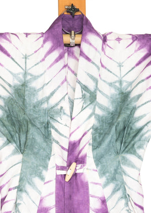 Broccolina Dragonfly Kimono by Joy Kimono Close Up Tiedye Kaftan Dress