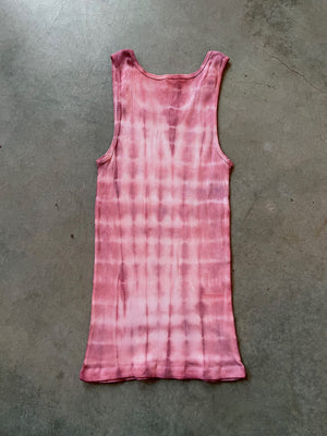 Shibori Dyed Ribbed Tank Top + Boxer Brief Set Size L