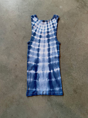 Shibori Dyed Ribbed Tank Top + Boxer Brief Set Size M