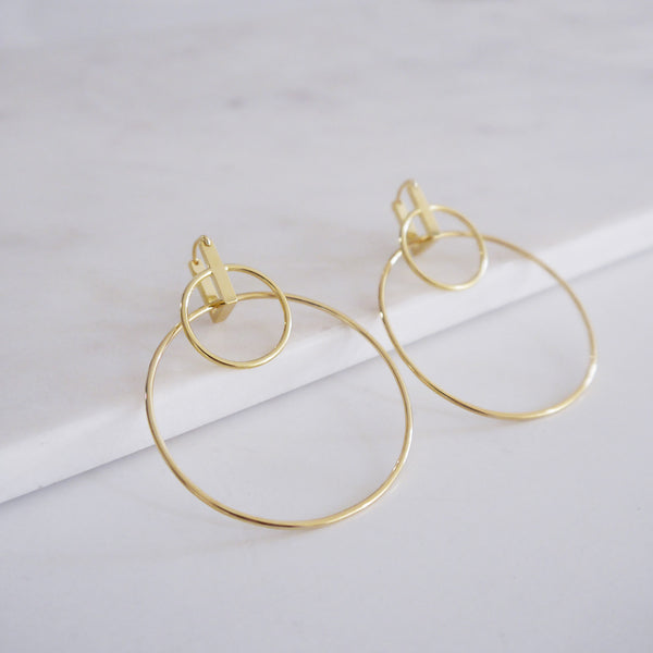 DUO HOOP EARRING - GOLD