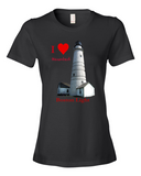 I Heart Haunted Boston Light Lady's T-shirt - Plus BONUS Booklet