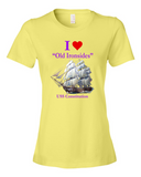 I Heart Old Ironsides - Lady's T-Shirt