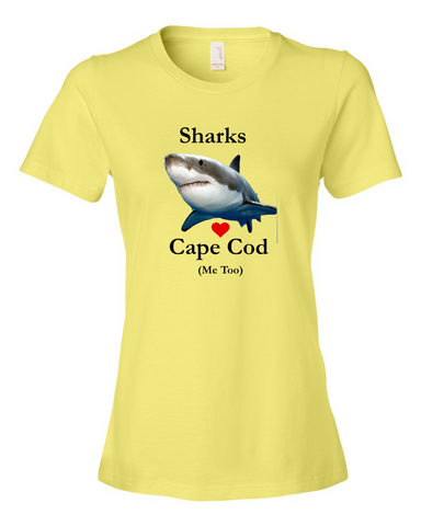 "Cape Cod Shark - ""Me Too"" - Lady's T-Shirt"