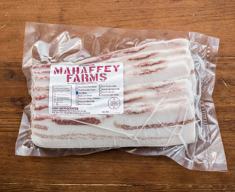 Raw Bacon (Sliced Pork Belly) - Mahaffey Farms