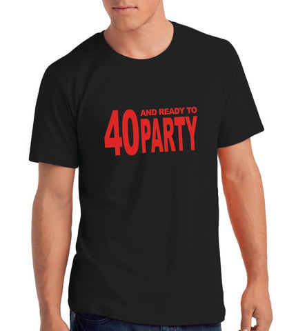 40th Birthday Party Themes For Men Black Red