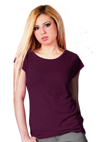 Bamboo Eco Fashion T Shirt - Eggplant