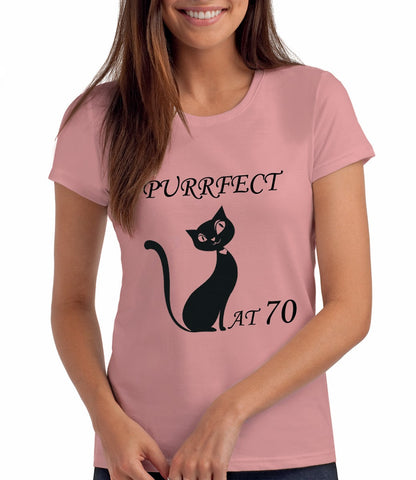 Top Cat T Shirt - perfect at 70 - pink