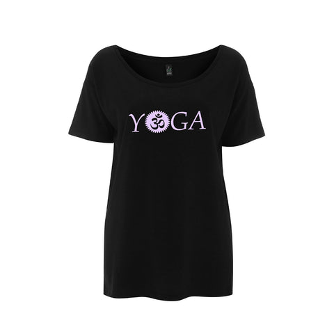 Comfortable Yoga Tops - Black and violet