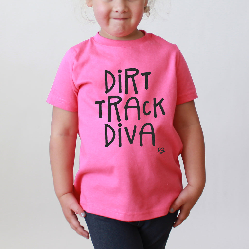 Dirt Track Diva  - Youth Heather Tee