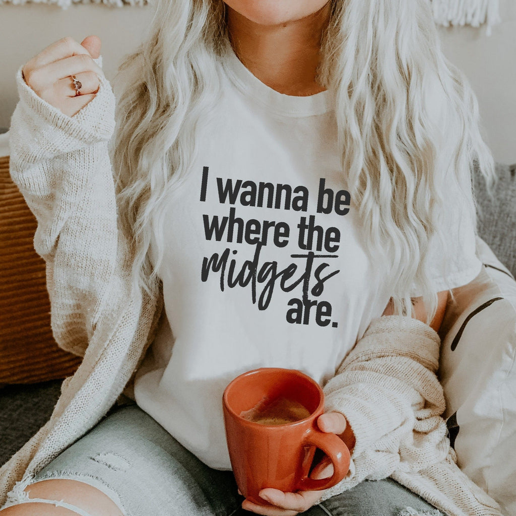 I Wanna Be Where the Midgets Are - Unisex Racing Tee