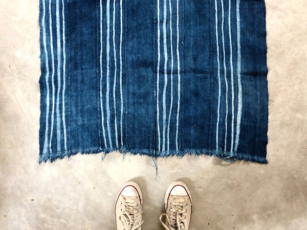 ANTIQUE MALIAN INDIGO MUD CLOTH