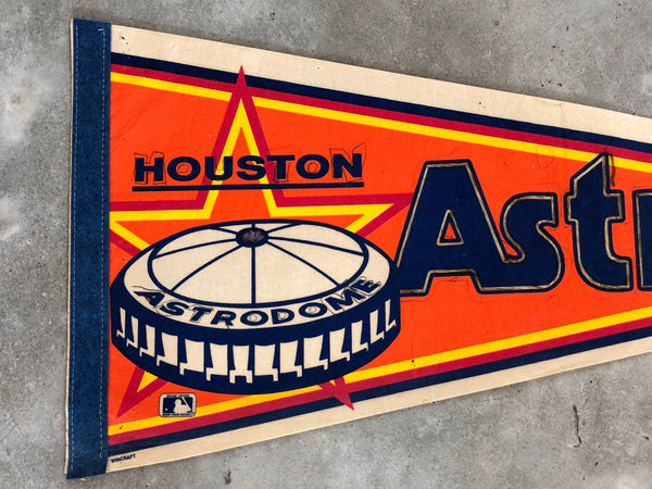 VINTAGE ASTROS PENNANT: READ DESCRIPTION (orange background)