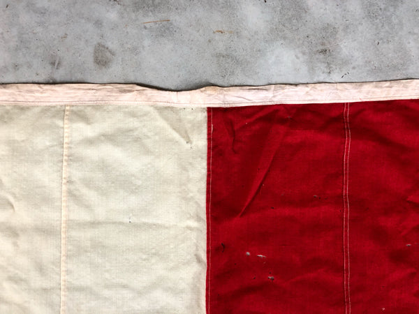 "VINTAGE NAUTICAL SIGNAL FLAG ""U"""