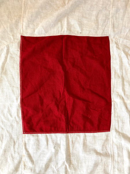 "VINTAGE NAUTICAL SIGNAL FLAG ""W FOR WHISKEY"""