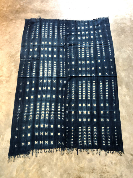 VINTAGE MALIAN INDIGO MUD CLOTH