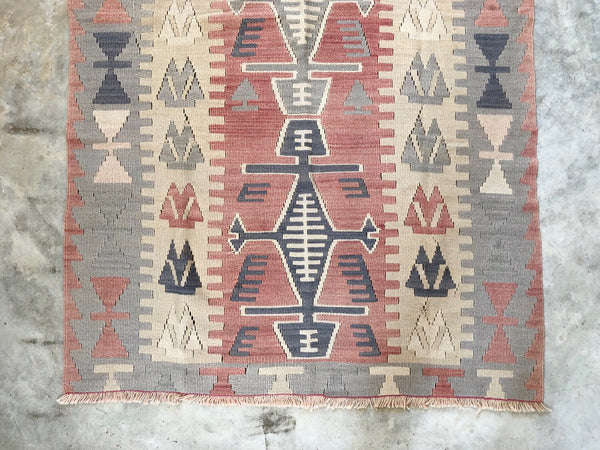 "VINTAGE KILIM RUG ""MS. WHITELEY"""
