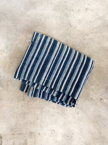 SINGLE STRIPED VINTAGE INDIGO MUD CLOTH