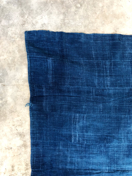 VINTAGE SOLID INDIGO MUD CLOTH