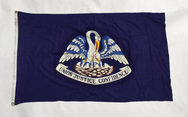 VINTAGE 1970'S LOUISIANA STATE FLAG