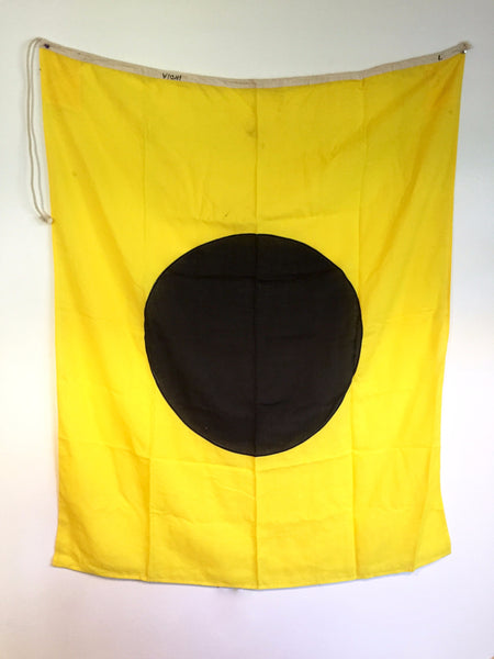 "VINTAGE NAUTICAL SIGNAL FLAG ""I"""