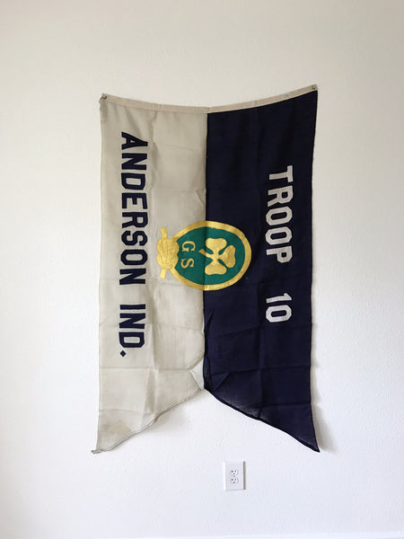 VINTAGE GIRL SCOUT FLAG TROOP 10