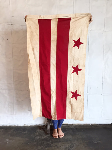 VINTAGE DISTRICT OF COLUMBIA FLAG