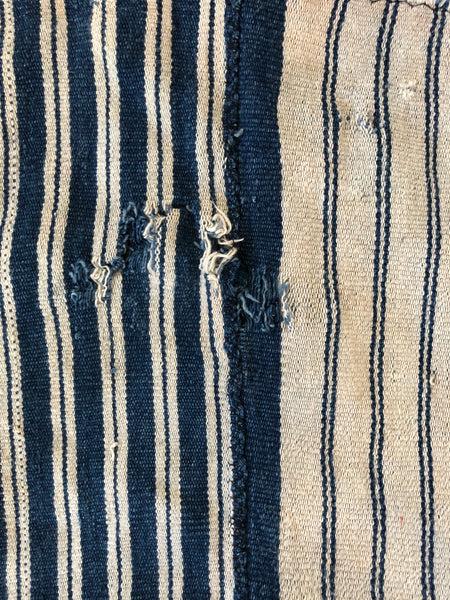 VINTAGE INDIGO MUD CLOTH