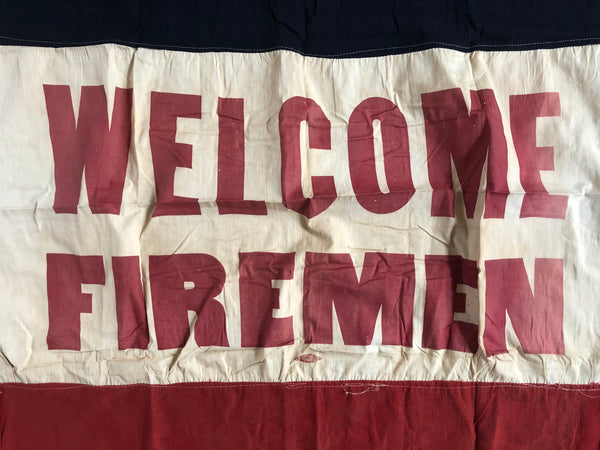 WELCOME FIREMEN FLAG