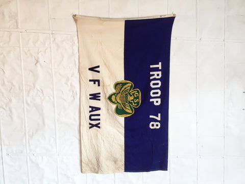 VINTAGE GIRL SCOUT FLAG TROOP 78