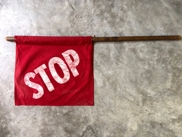 JR. SAFETY PATROL FLAG WITH POLE