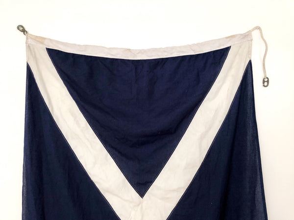 "VINTAGE NAUTICAL SIGNAL FLAG ""M"""