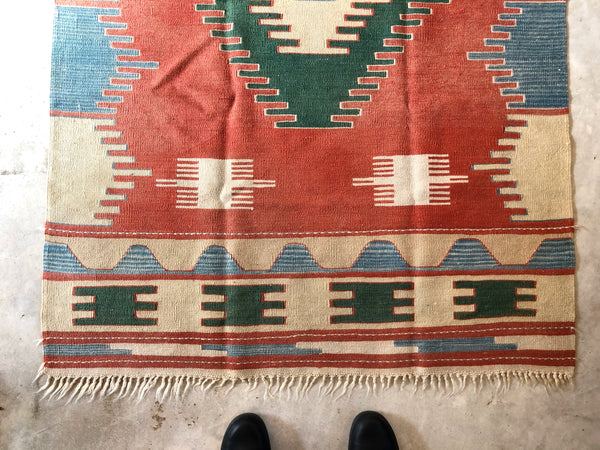 "VINTAGE KILIM RUG ""MRS. CLAUSE"""