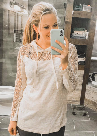 The 'Lacey' - Pullover Sweater in Natural - Saddles & Lace Boutique - Western and boho inspired clothing, bags, and accessories for women