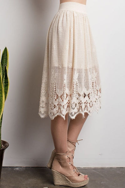 Prairie Rose Skirt - Cream - Saddles & Lace - Pants, Shorts, & Skirts - 3