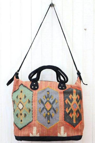 Mojave Spice -  Weekender Carpet Bag - Saddles & Lace - New western and southwest inspired clothing, bags, and accessories for women