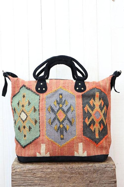 Mojave Spice -  Weekender Carpet Bag - Saddles & Lace Boutique - Western and boho inspired clothing, bags, and accessories for women