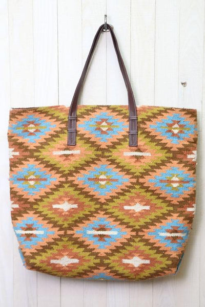 The Pueblo Over-sized Tote Bag - Saddles & Lace - New western and southwest inspired clothing, bags, and accessories for women