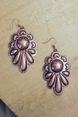 Copper Creek Star Earrings - Saddles & Lace - New western and southwest inspired clothing, bags, and accessories for women