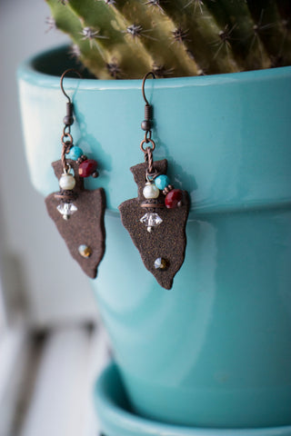 Rustic Arrowhead Earrings