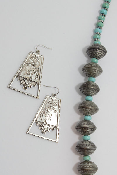 Kokopelli Sterling Earrings - Saddles & Lace - New western and southwest inspired clothing, bags, and accessories for women