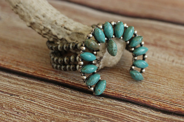 Squash Bracelet With Navajo Beads - Saddles & Lace - New western and southwest inspired clothing, bags, and accessories for women