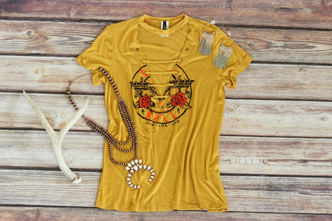 Yellow Rose Rocker Tee Shirt