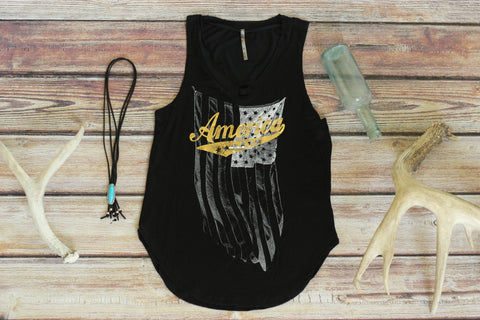 Tattered America - Tank Top
