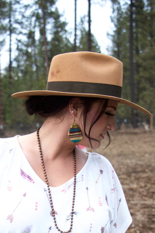 Old Gringo Serape - Clay Earrings - Saddles & Lace - New western and southwest inspired clothing, bags, and accessories for women